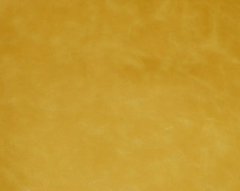 """Leather 12""""x12"""" FINE RIVIERA Pull up effect Canary YELLOW with a slight sheen Cowhide, a softer, richer Riviera 3 oz /1.2 mm E2933-09"""