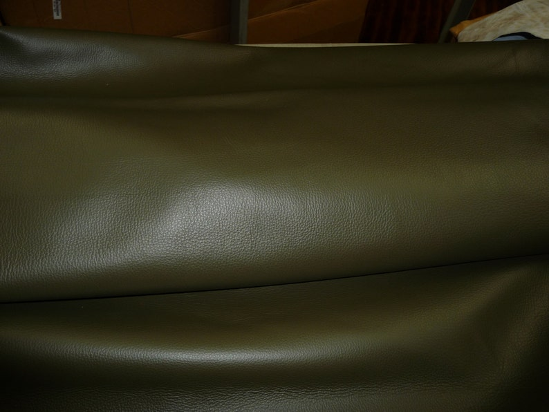 Leather 8x10 King Deep OLIVE Drab Green  Khaki  full grain Cowhide 3-3.5 oz  1.2-1.4mm PeggySueAlso\u2122 E2881-02 Full Hides Available
