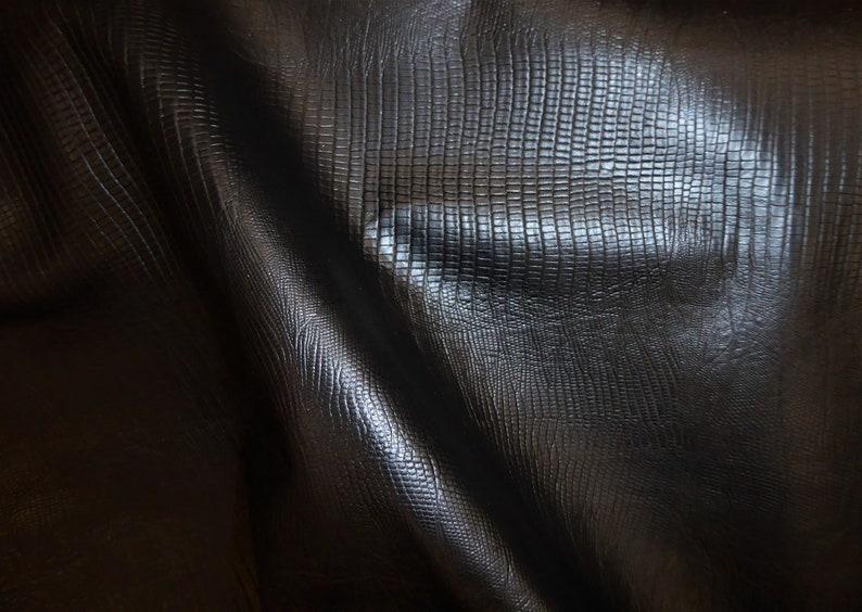 Leather 12x 12 Lizard BLACK embossed Cowhide 1.75-2 oz .8-1 mm PeggySueAlso\u2122 E2855