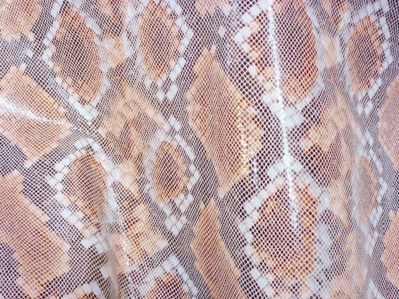 Leather 12x12 Copper and Cream Water Snake Glossy embossed Cowhide 2.5-3 oz  1-1.2mm PeggySueAlso\u2122 E2055-03  Hides available