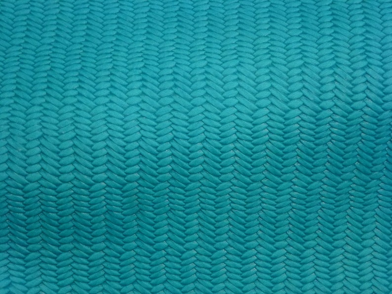 Leather 12x12 Braided Fishtail TURQUOISE SURF Cowhide 2.5-3 oz  1-1.2 mm PeggySueAlso\u2122 E3160-66 hides available
