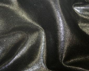 """Metallic Leather 8""""x10"""" Dazzle BLACK MAGIC Silver DAZZLE Cowhide 2.5 oz / 1 mm PeggySueAlso™ E8300-07"""