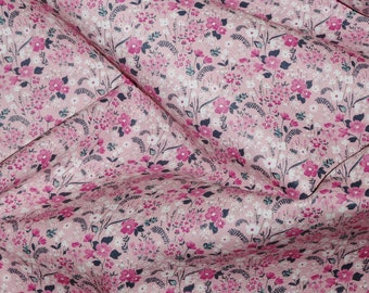 """NEW Pattern Leather 8""""x10"""" Wild Flower Field of PINK / white Flowers on PINK Cowhide 2.75-3 oz/1.1-1.2 mm PeggySueAlso™ E1191-01 Trial"""