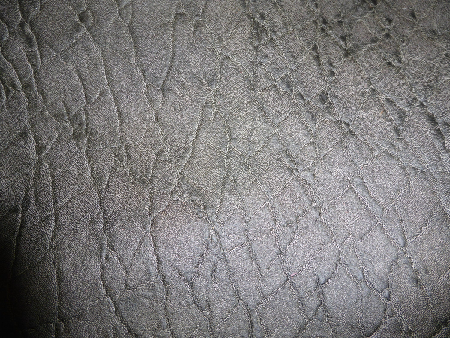 Piece Mottled Elephant GRAY Cow Hide Leather 1 Square Foot 12x12