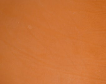 """Leather 12""""x12"""" BaBY CHOPPER DISTRESSED Naked GINGER FiRM Cowhide no grain Smooth fairly thick 4.5-5oz/1.8-2 mm 5/64"""" PeggySueAlso™ E2240-05"""