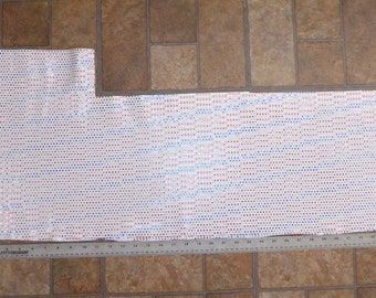 Precut Leather 3.5 sqft Tiny Stars and Stripes on WHITE BIKER cowhide 4 stars per inch #644/2 3-3.25 oz / 1.2-1.3 mm PeggySueAlso™ E2750-01