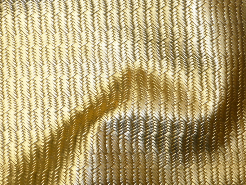Metallic Leather 8x10 Braided Fishtail GOLD Cowhide THINNER 2.5-3oz1-1.2 mm PeggySueAlso\u2122 E3160-17 hides Available