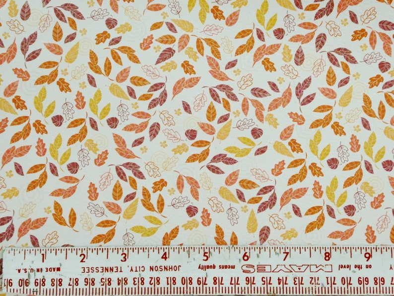 Leather 8x10 FALLING LEAVES on WHITE Cowhide 2.75-3 oz1.1-1.2 mm PeggySueAlso\u2122 E4600-01 hides available