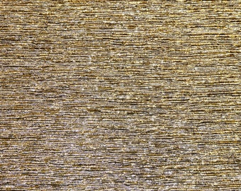 """5""""x11"""" Silver Gold Blended GLITTER METALLIC FABRIC applied to Leather Cowhide for firmness 3.5-4oz/1.4-1.6mm PeggySueAlso™ E4350-02"""