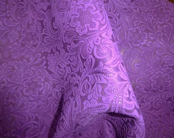 Suede Leather 3, 4 or 5 sq ft Etched Daisy PURPLE/ Grape Floral Pressed Suede Cowhide 3.5 oz / 1.4 mm PeggySueAlso™ E2875-01 Hides Available