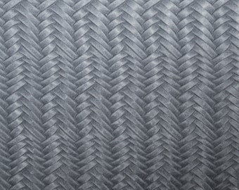"""Leather 12""""x12"""" Braided ITALIAN Fishtail ASH GRAY Cowhide 2.5-3 oz / 1-1.2 mm PeggySueAlso™ E3160-11 Hides available"""