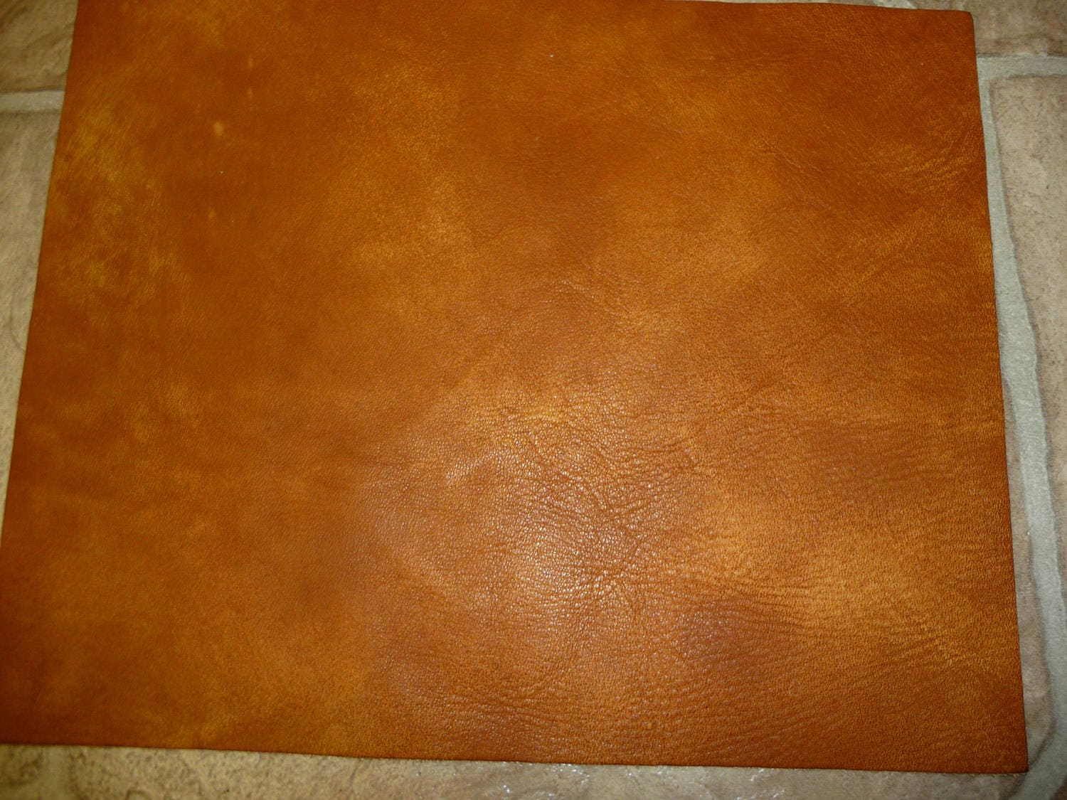 Precut Leather 3 sq ft Artisian Tie Dye CREAMY CAMEL Distressed Cowhide 4 oz  1.6 mm #318 PeggySueAlso\u2122 E2920-06 Full hides available