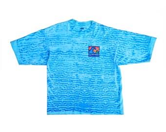 Heavy Wt. 80s Quiksilver Neon Allover Print Surf T-Shirt - XL