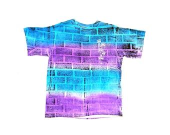 Rad 80s Bricks by Weekends Heavy Wt. Gradient Surf T-Shirt - M / L