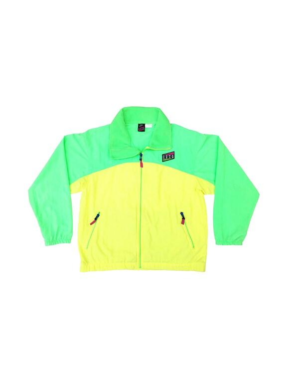 419a7c85da Neon 90s Nike Aqua Gear Colorblock Retro Hip Hop Shell Surf Windbreaker - M