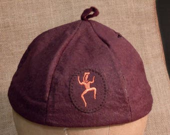 Vintage 1950's Brownie Scout Beanie Cap / Official Brownie Cap | Brown Brownie Beanie Uniform