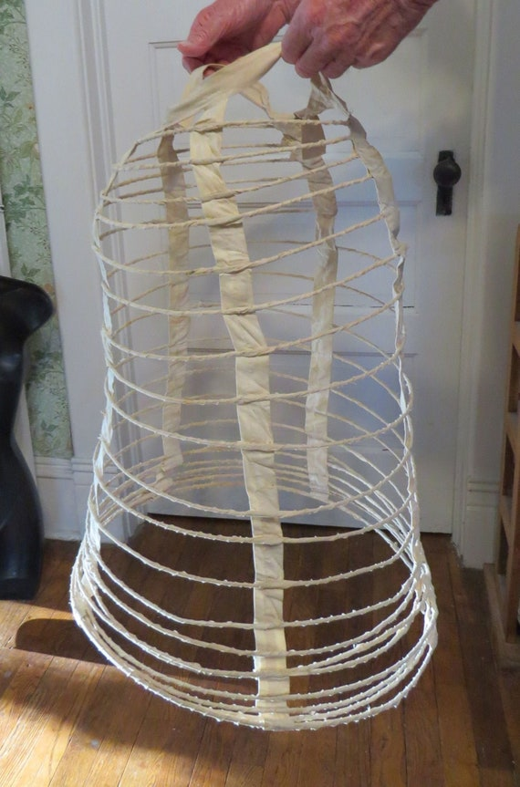 Antique Hoop Cage With Bustle Underskirt Victorian
