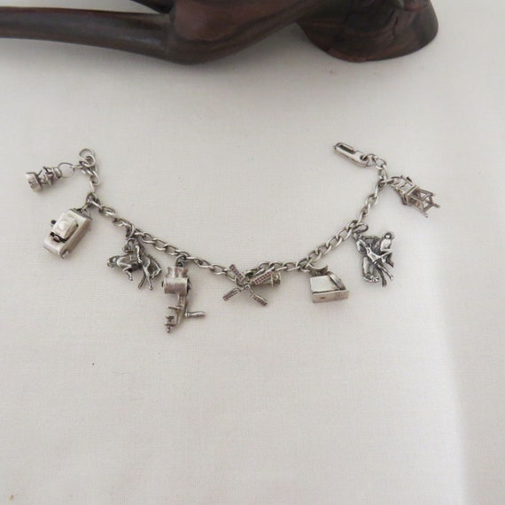 SALE Vintage Sterling Silver Articulating Charms C