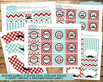 INSTANT DOWNLOAD Little Man Birthday Collection with 26 items