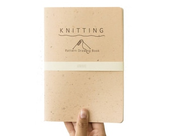 KNITTING pattern drawing book - design your own pattern - special grid - KNI5021C