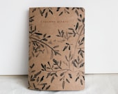 Kraft Botanical pattern journal, special edition, watercolor painting pattern in kraft brown cover and copper foil notebook