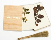 Herb Press - natural wood flower press, botanical herbarium press, wood and gold plant press