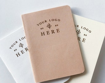 Personalized logo print notebook a6, phrase, motto, name, make your own unique journal, custom notebook cover