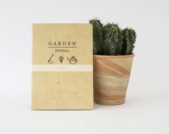 GARDEN Journal - handmade notebooks gardening gift plants, seeds and planning at your garden -  GARA5001