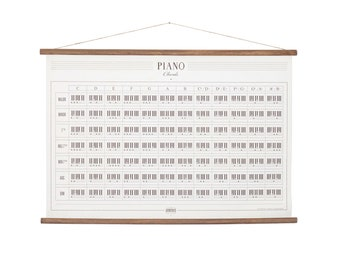 Piano Chords canvas poster - vintage design - music educational art print wall hanging decor poster