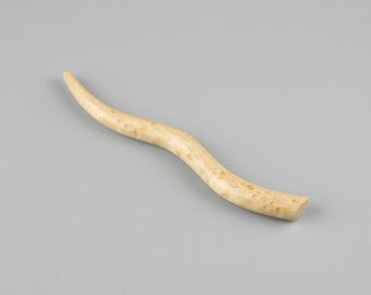 Hair Stick (5.25 inch) Hand-carved from Bird's Eye Maple
