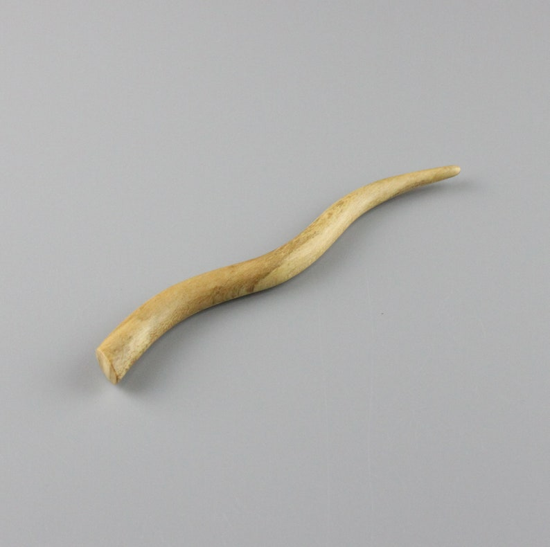Hair Stick 5.25 inch Hand-carved from Spalted Ivy image 0