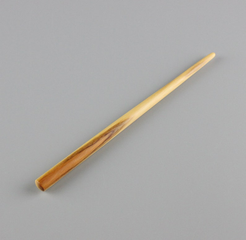 Hair Stick 6 inch Hand-carved from Yew wood image 0