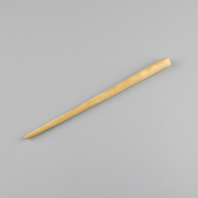 Silver Birch Hair Stick 7 inch  Hand-carved image 0