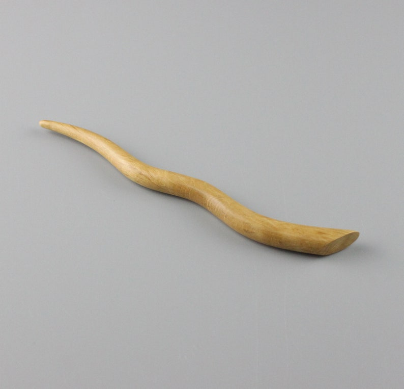 6 inch Hair Stick Hand-carved from Hornbeam