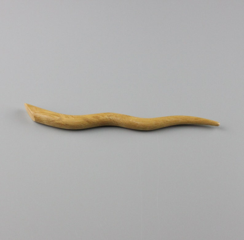 Hair Stick 6 inch Hand-carved from Hornbeam image 0