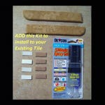 AFTER TILE INSTALLATION Kit, Kit will be matched to your corner shower shelf purchase. The Kit enables you to install to existing tile.