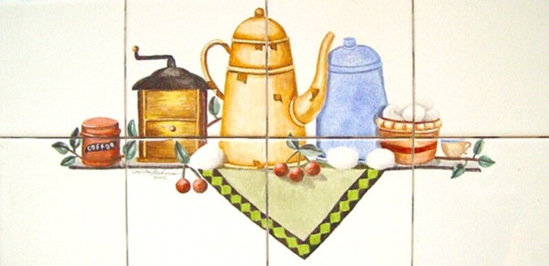 Nostalgic Kitchen Wall Tile Mural Item 468410626 Artist image 0