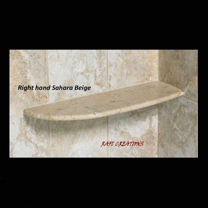 Reo-Handcrafted Natural Stone Shower Shelf unit Installs with image 0