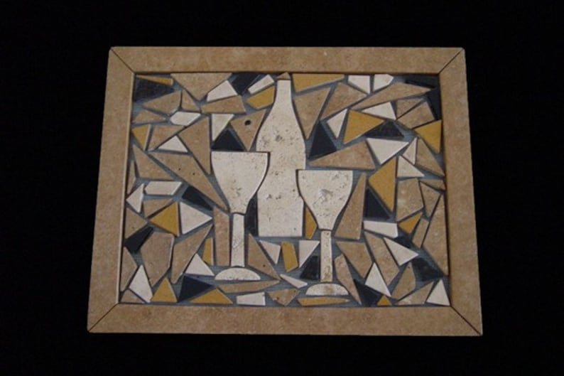 Decorative Mosaic to set in your tile perhaps above a stove image 0