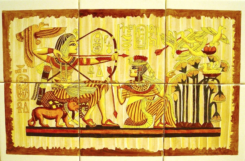 Egyptian Tile Mural image 0