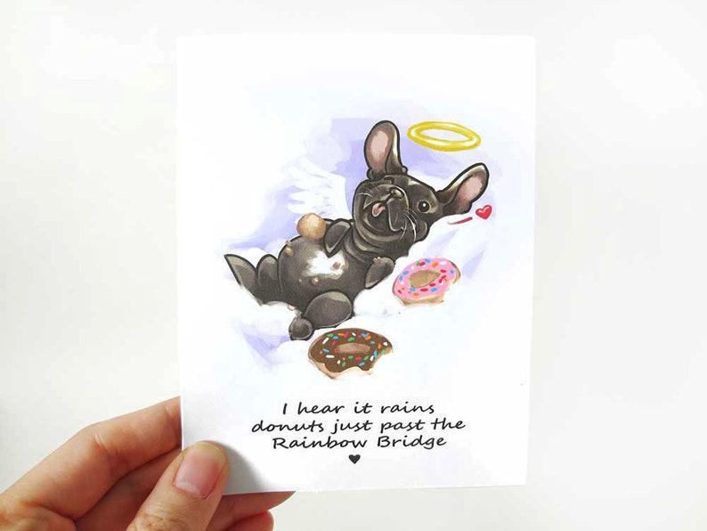 Pet Condolence Card Sympathy Card French Bulldog Dog Loss image 0