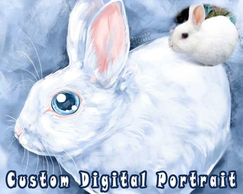 Custom Portrait DIGITAL Pet Art Dog Painting Animal Art image 0