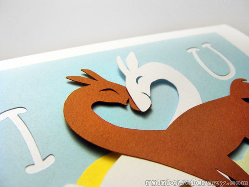 Llama Card I Love You Valentine Card Happy Anniversary image 0
