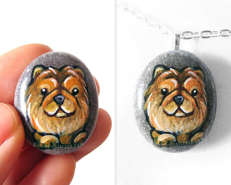 Chow Chow Dog Necklace Pet Loss Memorial Gift For Her image 0