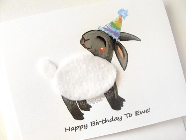Funny Card Black Sheep Card Happy Birthday To Ewe Farm image 0