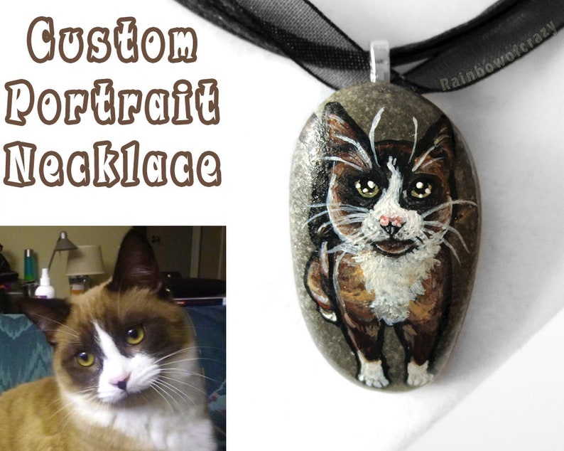 Personalized Pet Necklace Custom Jewelry Animal Pendant Cat image 0