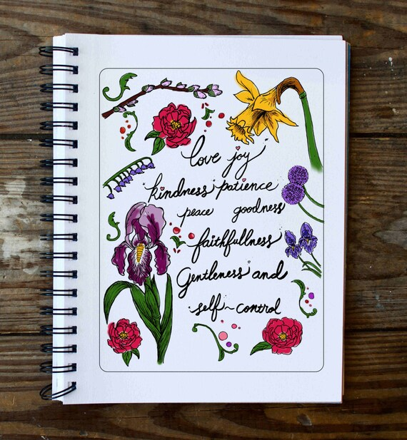Fruits Of The Spirit Bible Verse Coloring Page Download Pdf Etsy