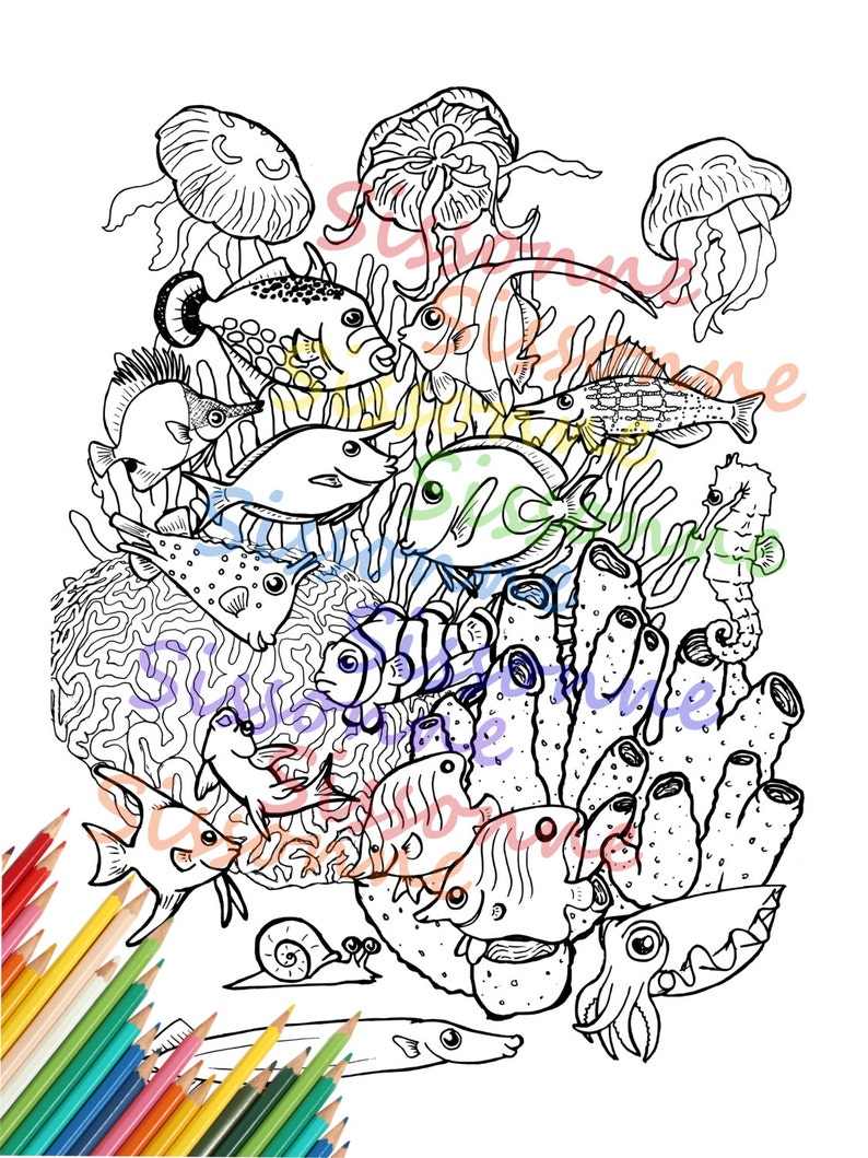 Coral Coloring Pages: Free Printable Coral Coloring Pages | Pata Sauti | 1059x794