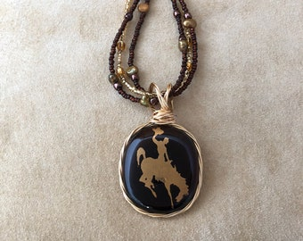 Root Beer Oval Cowboy Necklace