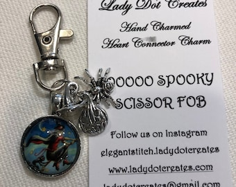 Spooky Halloween Scissor Fobs - 4 Different Choices